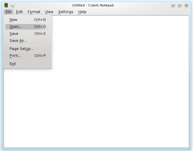 demo-notepad screenshot